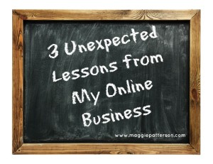unexpected lessons about  online business